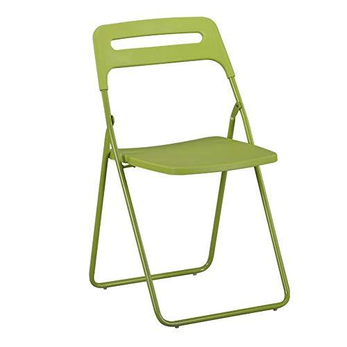 QIDI Chaise Pliante, Chaise d'ordinateur, Chaise Longue, dînette, dortoir Pliable pour étudiant, Bureau, ménage - Deux Personnes chargées (Couleur : Green)