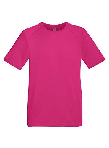 Fruit of the Loom Herren T-Shirt Performance T Fuchsia