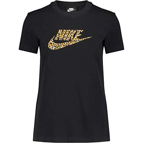 Nike Damen Top Short-Sleeve La T-Shirt, Black/Black, S