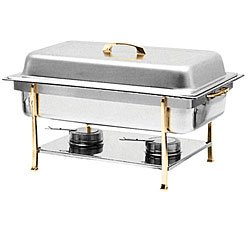 Thunder Group SLRCF0840 Capacity Chafer with Brass trim, 8-Quart