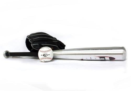 BGBA-1 Baseball Set Einführung, Senior, Aluminium, 1 Schläger + 1 Handschuh + Ball