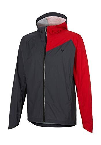 Ziener Herren CAGOME man (rain jaket) Regenjacke - Fahrrad/Outdoor/Freizeit - wasserdicht atmungsaktiv super leicht -