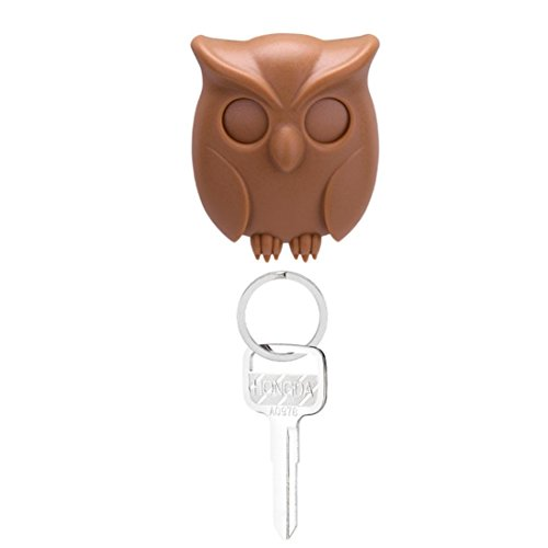 Schlüsselschilder Schlüsselanhänger,Jaminy Praktische Eule SchlÜSselanhänger Wand Montiert Magnetischen SchlÜSselhalter Home Decor Creative (Braun) (Braun-wand-tasche)