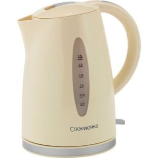 1.7 litre capacity Cookworks WK8259BH Kettle - Cream.