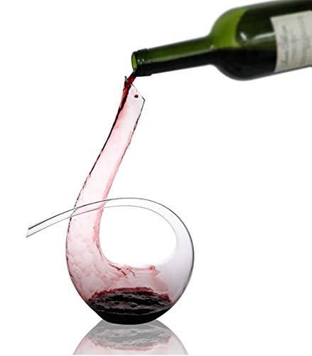 Carafe à décanter, Decanteur a vin, Carafe a Decanter vin, Aérateur de vin, Carafe Rapide en Verre Cristal, Outils de Bar créatifs, Accessoires de Cuisine- 1500ML