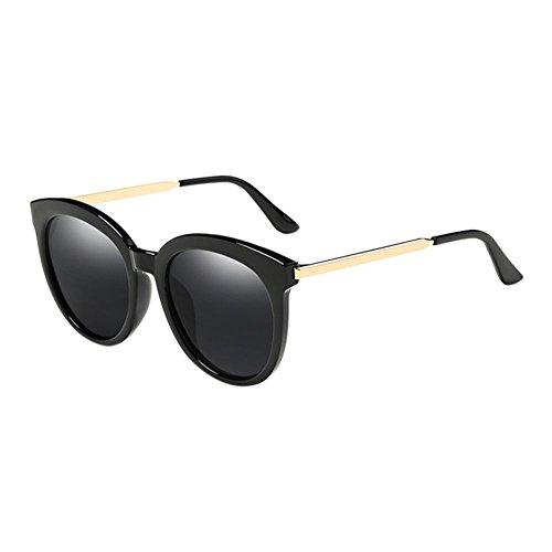 Haodasi Runder Rahmen Metall Frame gespiegelt Polarisiert Kurzsichtigkeit Brillen Übergroße Sonnenbrille
