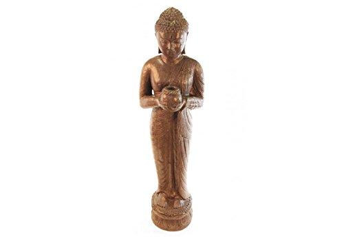 Statue Bouddha Offrande 150 cm - Marron