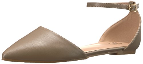 Brinley Co Women's RIA Ballet Flat, Taupe, 9 Regular US