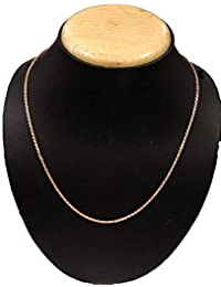 """ATJewels Solid 14k Rose Gold Over 925 Sterling Silver Rope Chain 16"""" Strand Necklace for Unisex"""
