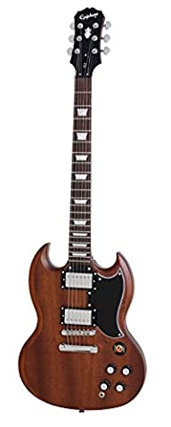 Epiphone Faded G-400 SG E-Gitarre (Worn Brown Lack, Mahagoni Korpus, Palisander Griffbrett, 24.75 Mensur)