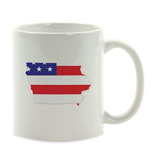 KELLEN WHITEHEAD United States Country Flag Iowa Presidential Election Veterans Day Fourth of July Party Decorations Birthday Ideas 11 Unzen Keramik Kaffeetasse Große Neuheit Becher -