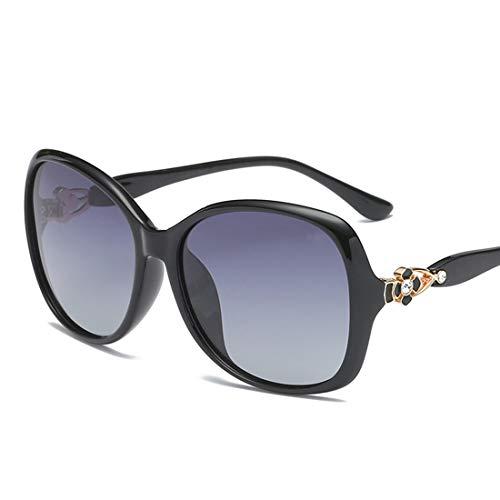 Easy Go Shopping Sonnenbrille zweifarbige reflektierende Linse Classic Frame Unisex-Schutzlinse. Sonnenbrillen und Flacher Spiegel (Farbe : Schwarz)