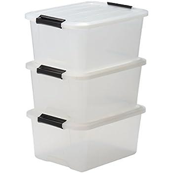 IRIS, 3er-Set stapelbare Aufbewahrungsboxen 'Top Box', mit