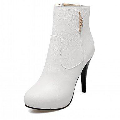 RTRY Scarpe Donna Pu Similpelle Autunno Inverno Comfort Novità Moda Stivali Stivali Stiletto Heel Round Toe Stivaletti/Stivaletti Di Strass US3.5 / EU33 / UK1.5 / CN32