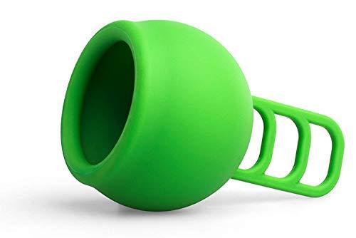 Merula Cup apple (grün) - One size Menstruationstasse aus medizinischem Silikon - 2