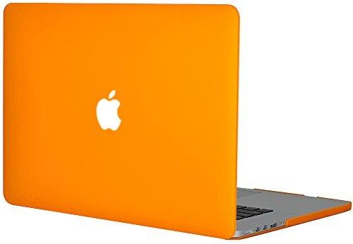 Generic Matt Tasche Case für Apple MacBook Pro Retina 15 Zoll mit Retina Display Model Schutzhülle Etui (ohne Apple Ausschnitt logo) Model A1398-Orange