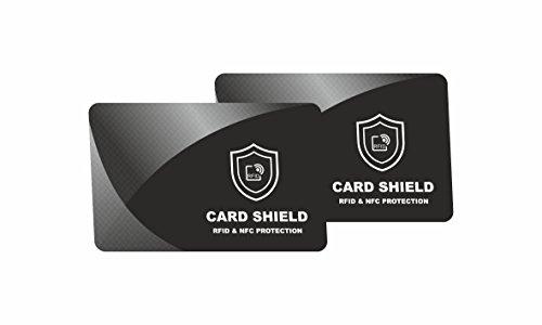 2 x RFID - NFC Blocker Schutzkarte - Störsender - Kreditkarten Schutz - Blockierkarten für Geldbörse, Cliphalter, Bankkarte, Ausweise, Reisepass, Credit Card und EC Karte von SmartProduct (Credit Schlank Wallet Card)