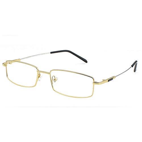 YMTP Titan Brille Frames Männer Frauen Spektakel Transparente Brillen Rahmen Business Brillen Myopie Optische Gläser, Gold