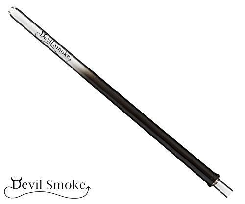 Glasmundstück Devil Smoke Colored Rund für Shishas Wasserpfeifen (Black)