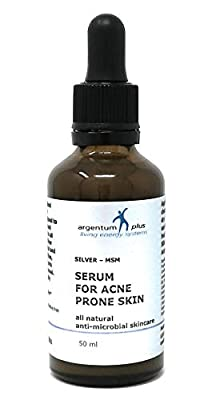 Silver-MSM Serum for Acne Prone Skin 50 ml dropper / pipette by Living Energy Systems Ltd.
