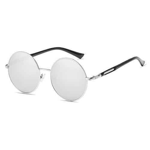 Aiweijia Damenbrille Vintage Retro Metall Runde Kreis Rahmen Sonnenbrille