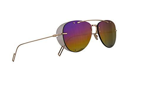 Dior Christian Homme DiorChroma1 Sonnenbrille Gold Mit Regenbogen Gläsern 59mm J5GR3 Chroma 1 Chroma1