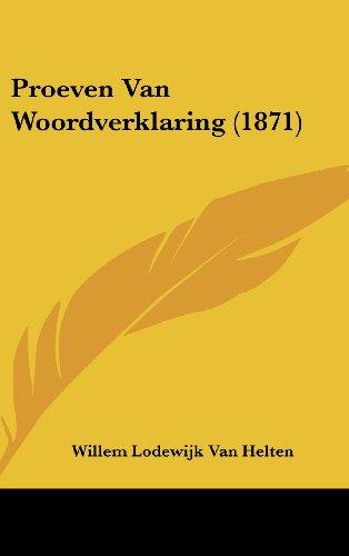 Proeven Van Woordverklaring (1871)