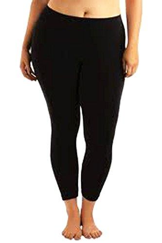 896c8a4977449 Elegance Women`s Extra Plus Size Elegance Full Length Plain Elastic Stretch  Viscose Leggings Size