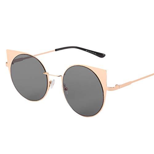 Sonnenbrille Damen Verspiegelt,Katzenaugen Nerdbrille Schöne Polarisiert Goggles,Schutz Shades...