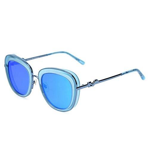 CN Sonnenbrille-Frauenart und weisespiegel-Gezeitenleute bunter Froschspiegel polarisierte Sonnenbrille,Blauer Rahmen b,1