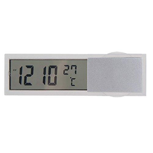 LCD Digital Auto LKW Thermometer Temperaturfuehler in- / Aussenthermometer mit Saugnapf Knopfzelle
