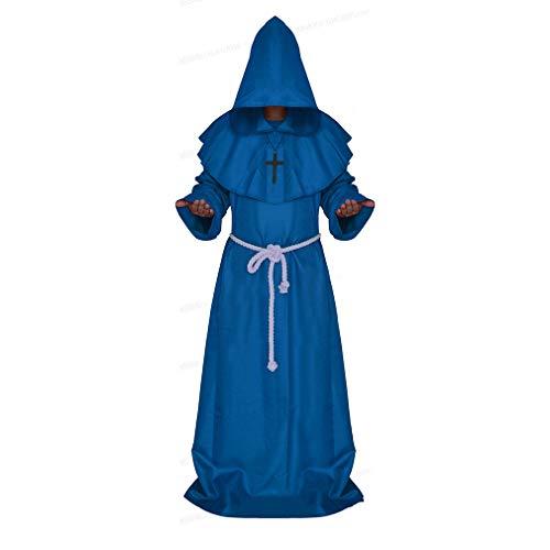 Halloween Ruolo Atto Costume Medioevo Abbigliamento Monaco Abito Stregone Abbigliamento Pastore Abbigliamento Cristiano Set S/M / L/XL