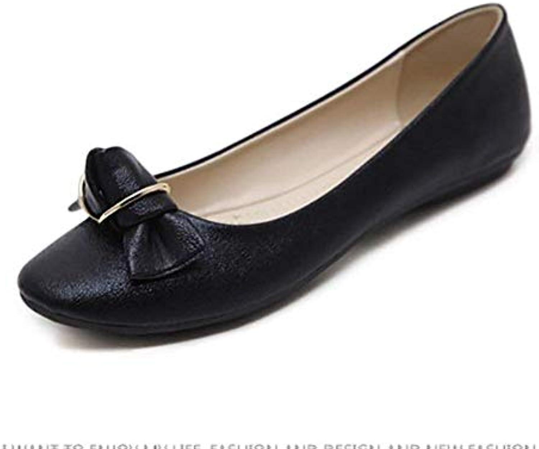 Fuxitoggo Scarpe Casual da Donna Scarpe in Pelle Comfort Scarpe con Fibbia in Metallo, Blu, US8,5   EU39   UK6,5... | prezzo di vendita  | Scolaro/Ragazze Scarpa