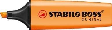 Orange Lot de 3 surligneurs fluorescents Stabilo Boss avec encre à base d'eau