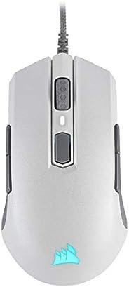 CORSAIR M55 RGB PRO Ambidextrous Multi-Grip Gaming Mouse, White