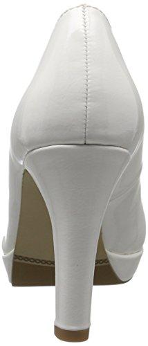 s.Oliver 22410, Escarpins Femme Blanc (WHITE PATENT 123)