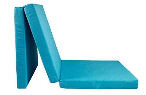 ZOLLNER Colchón Plegable para Camping, 65x195 cm, Azul, en Otros Colores, Ideal para visitas e Invitados, Serie Club