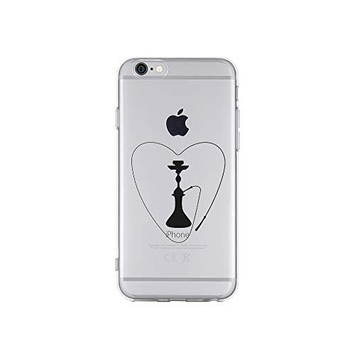 licaso Apple iPhone 6 Handyhülle Smartphone Apple Case aus TPU mit Love Shisha Print Motiv Slim Design Transparent Cover Schutz Hülle Protector Soft Aufdruck Lustig Funny Druck