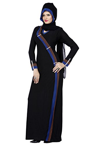 Viva N Diva Black Colored Lycra Abaya For Muslim Girls.