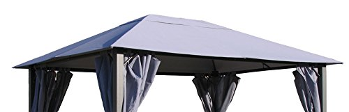 Preisvergleich Produktbild Ersatzdach zu Pavillon Paris 3x4m Platingrau