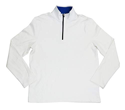 DKNY Men's Logo Placket Textured 1/4 Zip Pullover Jacket -
