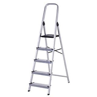 altipesa 8421446003059Step Ladder 5Steps Aluminium Ladder-Step Ladder with