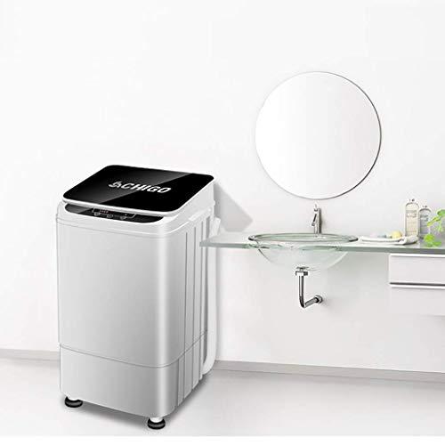 LXDDP Tragbare Waschmaschine Vollautomatische kleine tragbare Waschmaschine 4,5 kg/9,9 lbs Waschkapazität Einzelwanne mit Abflusskorb und kleinem antibakteriellem Pulsator