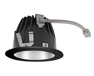 RAB Lighting NDLED6R-50Y-M-B LED Trim Mod- 6 Round 3K 50-Degree Black Ring with Matte Cone by RAB Lighting Mod Trim