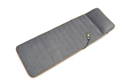 Medisana MM 825 Massagematte elektrisch, Ganzkörper, 5 Programme, 4 Massagezonen, Wärmefunktion, Massageauflage mit Fleece-Bezug, Massageliege mit 2 Intensitäten für Rücken, Nacken und Kopf