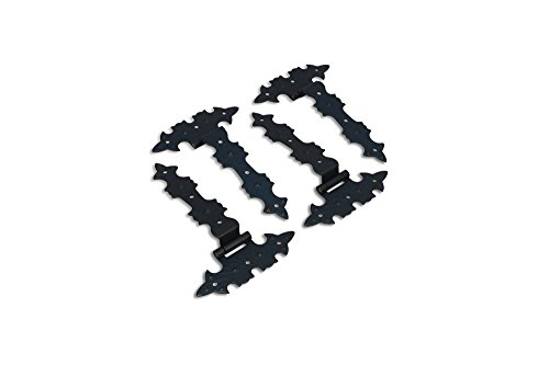 4 x Scharniere Schwarz antike Beschläge im restaurierungsshop Möbelbänder