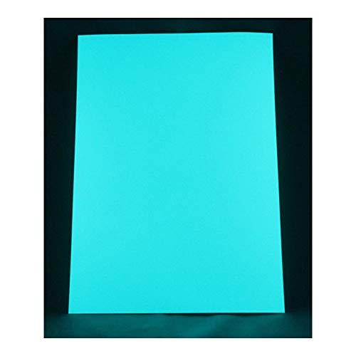 - Selbstleuchtende Farbfolie, Profi Leuchtpapier, Nachleuchtfolie, DIY Wandtattoo, leuchtendes Bastelpapier, DIY Wandsticker, Schwarzlicht Folien, UV Papier (Materialbasis: Strontium Aluminate) (A4, Blau-Grün) ()