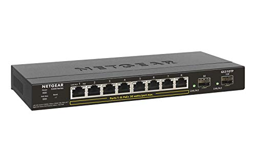 NETGEAR Gigabit Ethernet Smart Managed Pro PoE Switch 8 Port PoE+ -