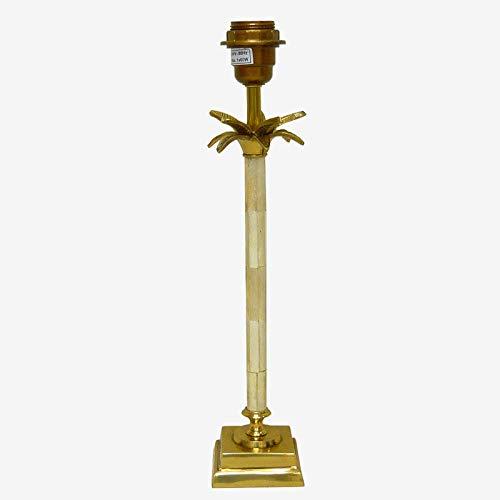 Better & Best Palmenlampe Knochenfuß, quadratisch, Weiß und Gold, Maße 7,5 x 7,5 x 42 cm, Material: Metall,