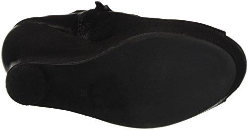 Jeffrey Campbell Tick, Scarpe con Tacco a Punta Aperta Donna Nero (Leather Black)
